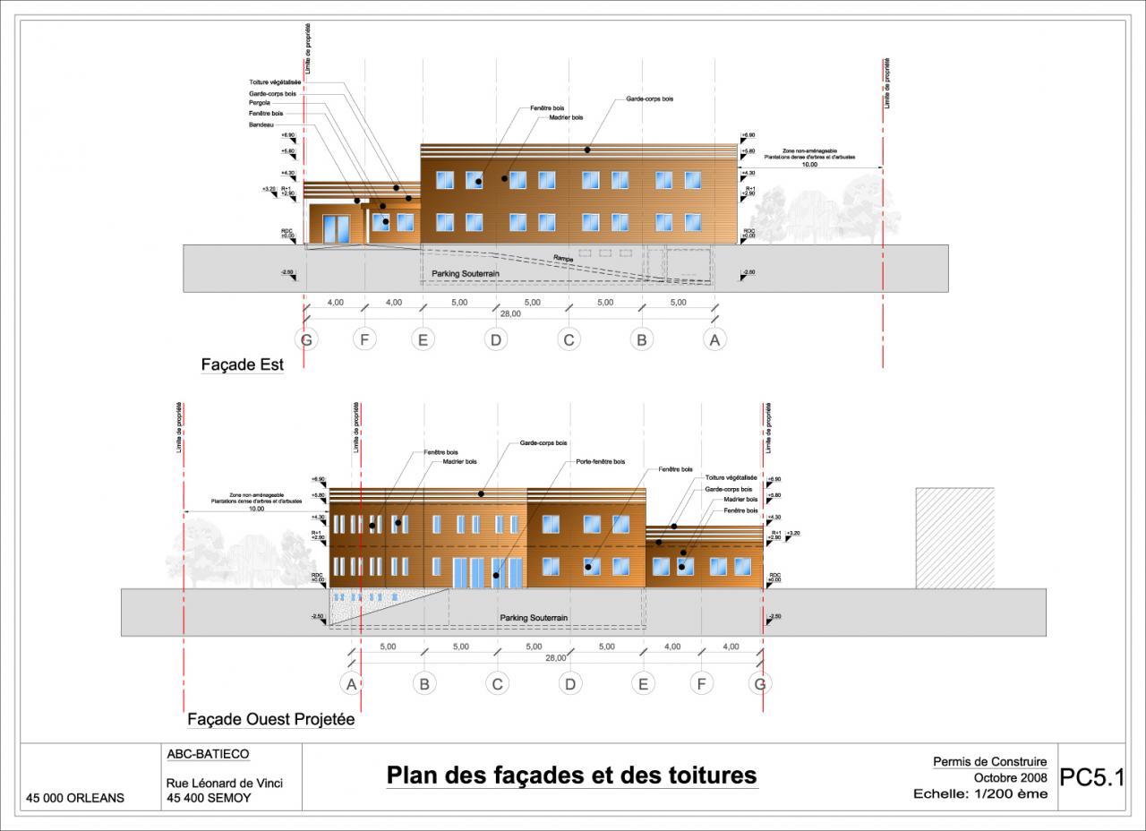 Construction bois for Plan des facades
